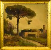 Ettore Roesler Franz Watercolor Painting of Rome