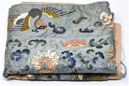 Chinese Heavily Embroidered Silk Textile