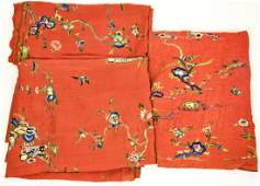 3 Chinese Hand Embroidered Silk Textiles
