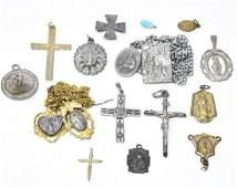 Antique  Vintage Religious Jewelry Group Lot