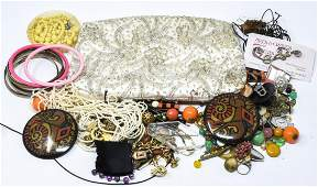 Group of Lot of Vintage Costume Jewelry Pieces