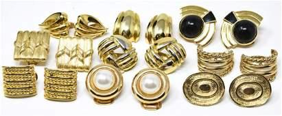 Vintage Designer Costume Jewelry Clip on Earrings