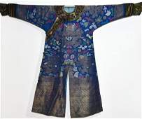 Antique Chinese Embroidered Five Claw Dragon Robe