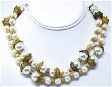 Vintage Costume Jewelry Snake Motif Necklace