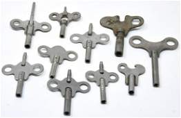 Collection of Antique 19th C Clock / Watch Keys