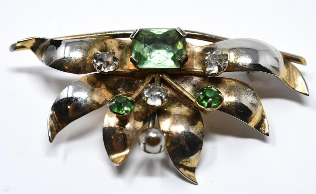 Vintage Retro Sterling Silver Necklace Pendant Pin
