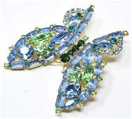 Vintage Costume Jewelry Large Butterfly Brooch
