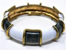 C 1970 Original by Robert Enamel Bangle Bracelet
