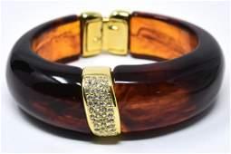 C 1990 Kenneth Lane Acrylic Clamper Bracelet