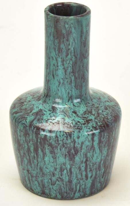 Chinese Robin's Egg Blue Crackleware Vase Signed