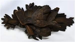 Antique German Black Forest Hunting Motif Carving