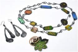 Vintage Enamel Costume Jewelry by Matisse