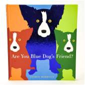 George Rodrigue Blue Dog Signed Book W Drawing