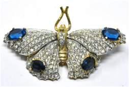 Kenneth J Lane Costume Butterfly En Tremblant Pin
