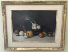 Herbert E. Abrams Still Life Oil Painting w Frame