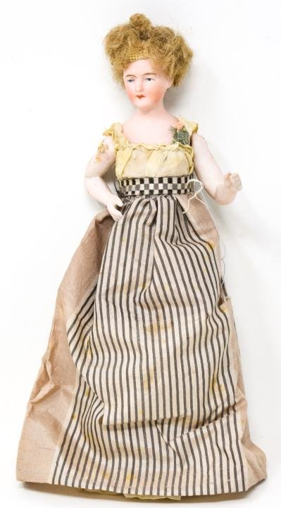 Antique German Bisque Doll w Bent Arms