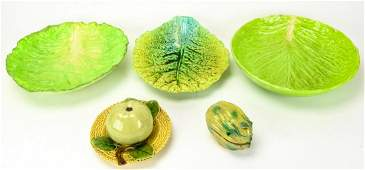 Group of Figural Antique  Vintage Majolica Items