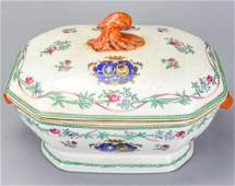 Large Chinese Export Famille Rose Boar Head Tureen