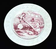 Antique 19th C English Ironstone ABC Child's Plate