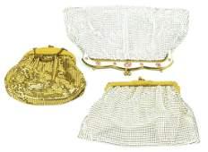 3 Vintage Mesh Purses Including Whiting & Davis