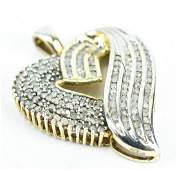 Vintage 1 Carat Diamond Heart Necklace Pendant