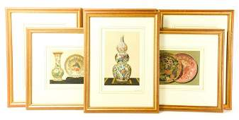 Collection Antique Lithographs Chinese Porcelain