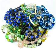 Collection Art Glass Bead Vintage Costume Jewelry