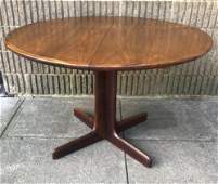 Mid Century Round Pedestal Dining Table W Leafs