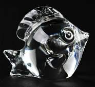 Steuben Crystal Fish Hand Cooler /  Paperweight