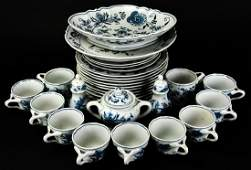 Service Vintage Laveno Italy Blue Danube Serveware