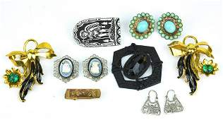 Collection of Vintage Sterling  Costume Jewelry