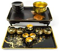 Vintage Collection Japanese Black Lacquer & Gold