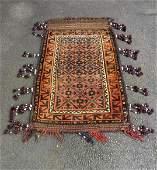 Hand Knotted Afghan Kilim Camel / Saddle Bag