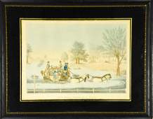 Antique Hand Colored Engraving After James Pollard