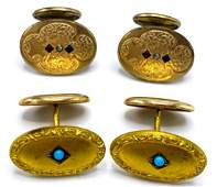 Two pairs of Victorian Gold filled Cufflinks