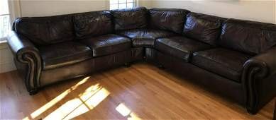 Contemporary Leather Sectional Sofa by Bernhardt