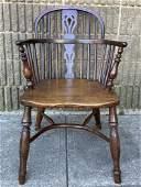 English Oak Windsor Wheelback Style Chair