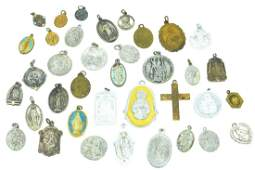 Collection of Antique  Vintage Religious Medals