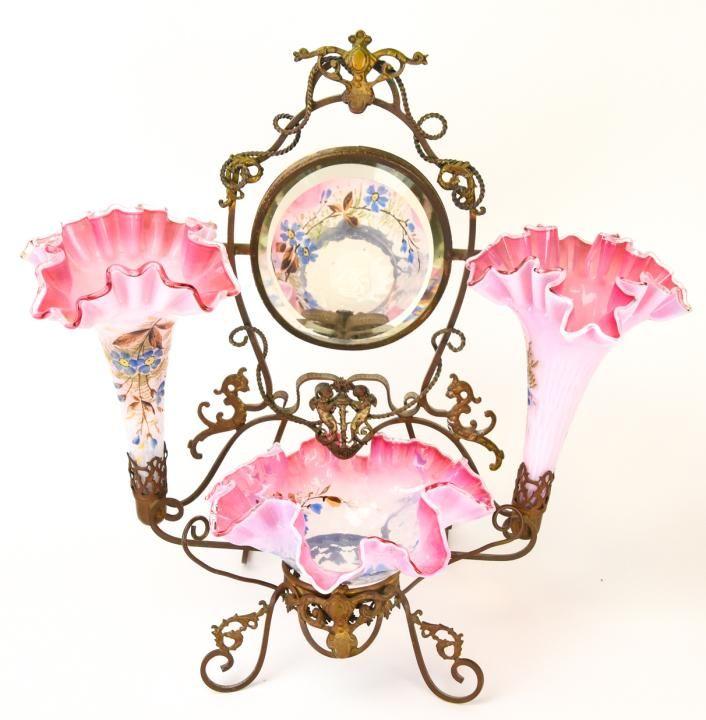 Antique 19th C Vanity Epergne