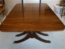 Regency Triple Pedestal Drop Leaf Dining Table