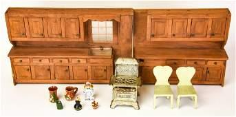Antique  Vintage Dollhouse Miniature Furniture