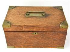Antique 19th C Oak Document Box