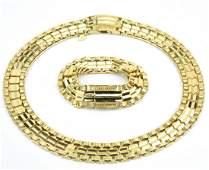 Vintage Costume Jewelry Necklace  Bracelet Set