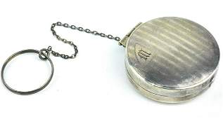 Antique Art Deco Sterling Silver Compact