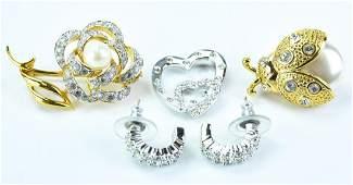 Collection Of Swarovski Costume Jewelry
