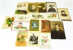 Antique 19th C Collection Of Ephemera & Postcards
