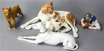Collection Bing  Grondahl Porcelain Dog Figurines