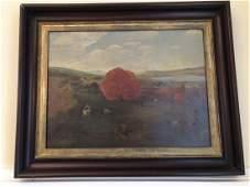"Oil Painting 1939 ""Brilliant Trees of Autumn"""