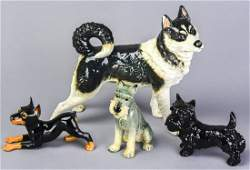 Collection 4 Goebel German Porcelain Dog Figurines