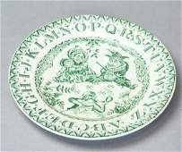 Antique English 19th C Child's ABC Plate